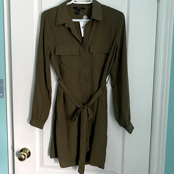 Forever 21 Green Work Dress